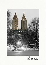 Personalized San Remo Central Park NYC Holiday Greeting Cards