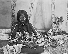 Piegan Indian Woman Edward S. Curtis 1910 Photo Print for Sale
