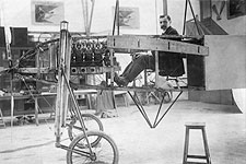 Pilot Louis Bleriot in Monoplane Early 1900s Photo Print for Sale