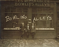 Pin Boys at Bowling Alley Lewis Hine 1911 Photo Print for Sale