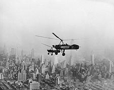 Pitcairn Auto-Gyros Over New York City Photo Print for Sale