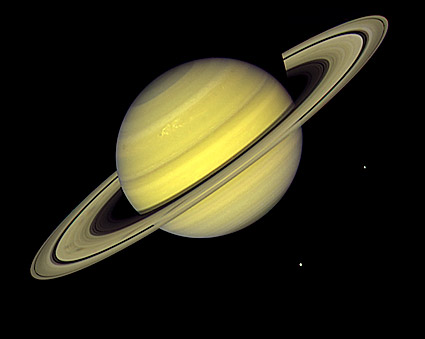 Planet Saturn Voyager 1 Photo Print