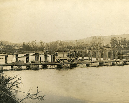 Pontoon Bridge at Château-Thierry in France WWI Photo Print