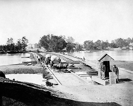 Pontoon Bridges Richmond, VA 1865 Civil War Photo Print