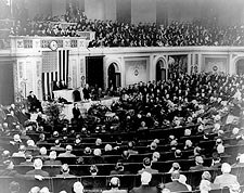 Pres. Herbert Hoover Addressing Congress Photo Print for Sale