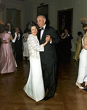 Pres. Lyndon & Lady Bird Johnson Dancing Photo Print for Sale