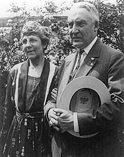 Pres Warren Harding & 1st Lady White House Photo Print for Sale