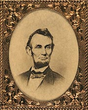 President Abraham Lincoln Campaign Button 1864 Photo Print for Sale