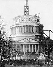President Abraham Lincoln Inauguration 1861 Photo Print for Sale