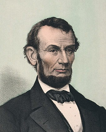 President Abraham Lincoln Lithograph 1865 Photo Print