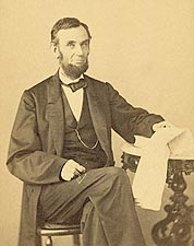 President Abraham Lincoln Seated Portrait 1863 Photo Print for Sale