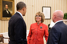 """President Barack Obama and Gabrielle """"Gabby"""" Giffords Photo Print for Sale"""