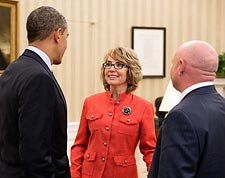 "President Barack Obama and Gabrielle ""Gabby"" Giffords Photo Print for Sale"