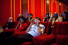 President Barack Obama Watching 3D with Guests Photo Print for Sale