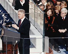 President Bill Clinton Inaugural Address Photo Print for Sale