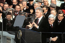 President Bill Clinton Inauguration Speech 1997 Photo Print for Sale