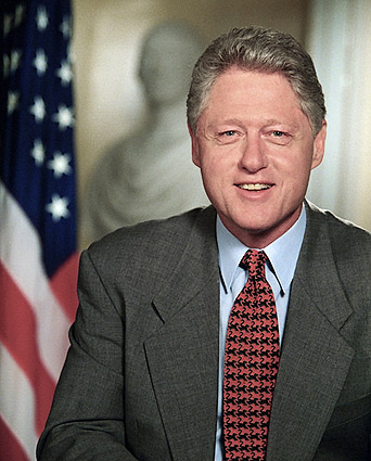President Bill Clinton White House Portrait Photo Print