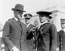 President Coolidge Decorating Sailor with Medal Photo Print for Sale
