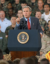 President George W. Bush Address to MacDill Photo Print for Sale