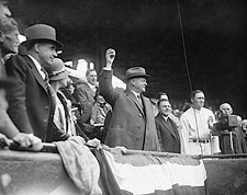 President Herbert Hoover Throwing Baseball Photo Print for Sale