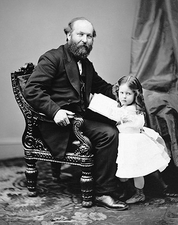 President James Garfield & Daughter Photo Print