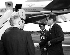 President John F Kennedy at Cape Canaveral Photo Print for Sale