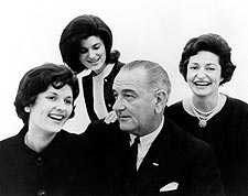 President Lyndon B. Johnson Family Portrait Photo Print for Sale