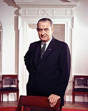 President Lyndon B. Johnson Standing Portrait Photo Print for Sale
