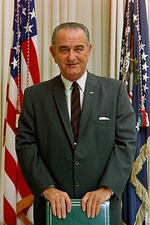 President Lyndon Johnson Color Photo Print