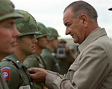 President Lyndon Johnson in Vietnam Photo Print for Sale