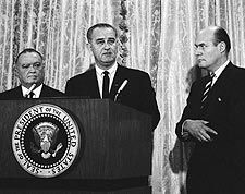 President Lyndon Johnson & J Edgar Hoover Photo Print for Sale