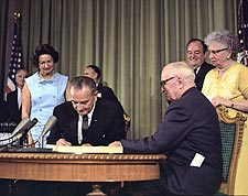 President Lyndon Johnson Medicare Bill Photo Print for Sale