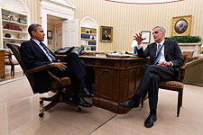 President Obama and Chief of Staff Denis McDonough  Photo Print for Sale