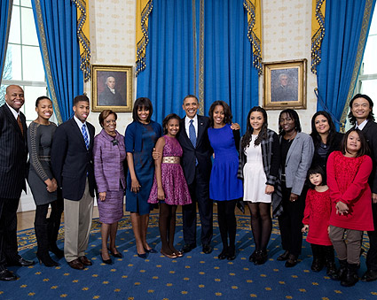 President Obama and Extended Family on Inauguration Day Photo Print