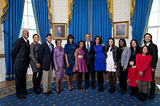 President Obama and Extended Family on Inauguration Day Photo Print for Sale
