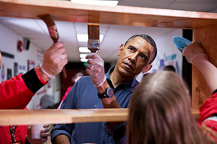 President Obama at National Day of Service Event Photo Print