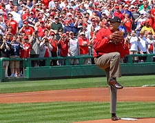 President Obama 'First Pitch' for Washington Nationals Photo Print for Sale