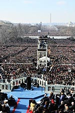 President Obama Inaugural Address to Crowd 2009 Photo Print for Sale