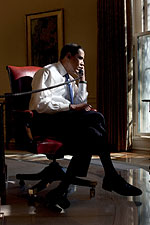 President Obama Phone Call with Iraqi Prime Minister 2009 Photo Print for Sale