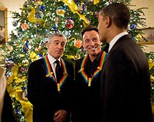 President Obama, Springsteen and DeNiro at White House Photo Print for Sale