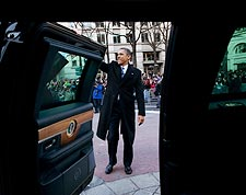 President Obama Waves at Inaugural Parade 2013 Photo Print for Sale