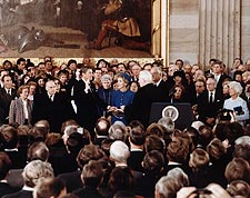 President Ronald Reagan Oath of Office 1985 Photo Print for Sale