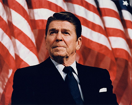 President Ronald Reagan Patriotic Portrait Photo Print