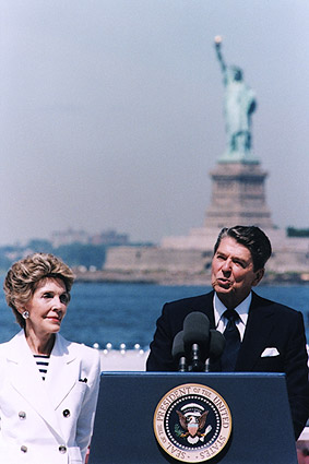 President Ronald Reagan Statue of Liberty Photo Print