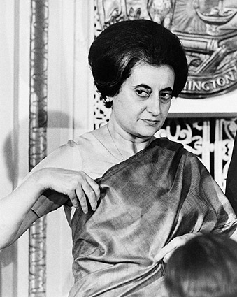 Prime Minister Indira Gandhi of India 1966 Photo Print