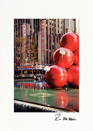 Radio City Christmas, New York City Photo Individual Greeting Cards
