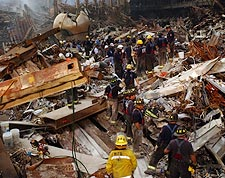 Rescue Workers Human Chain 9/11 Photo Print for Sale