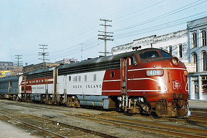 RI Railroad 'Peoria Rocket' FP-7A Train Photo Print