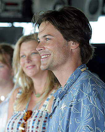 Rob Lowe Aboard USS Russell DDG 59 Photo Print