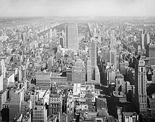Rockefeller Center, Central Park NYC Aerial 1933 Photo Print for Sale